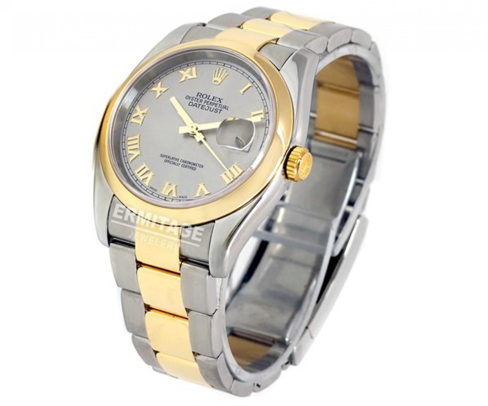 Rolex Datejust 116203 Gold & Steel Dark Grey