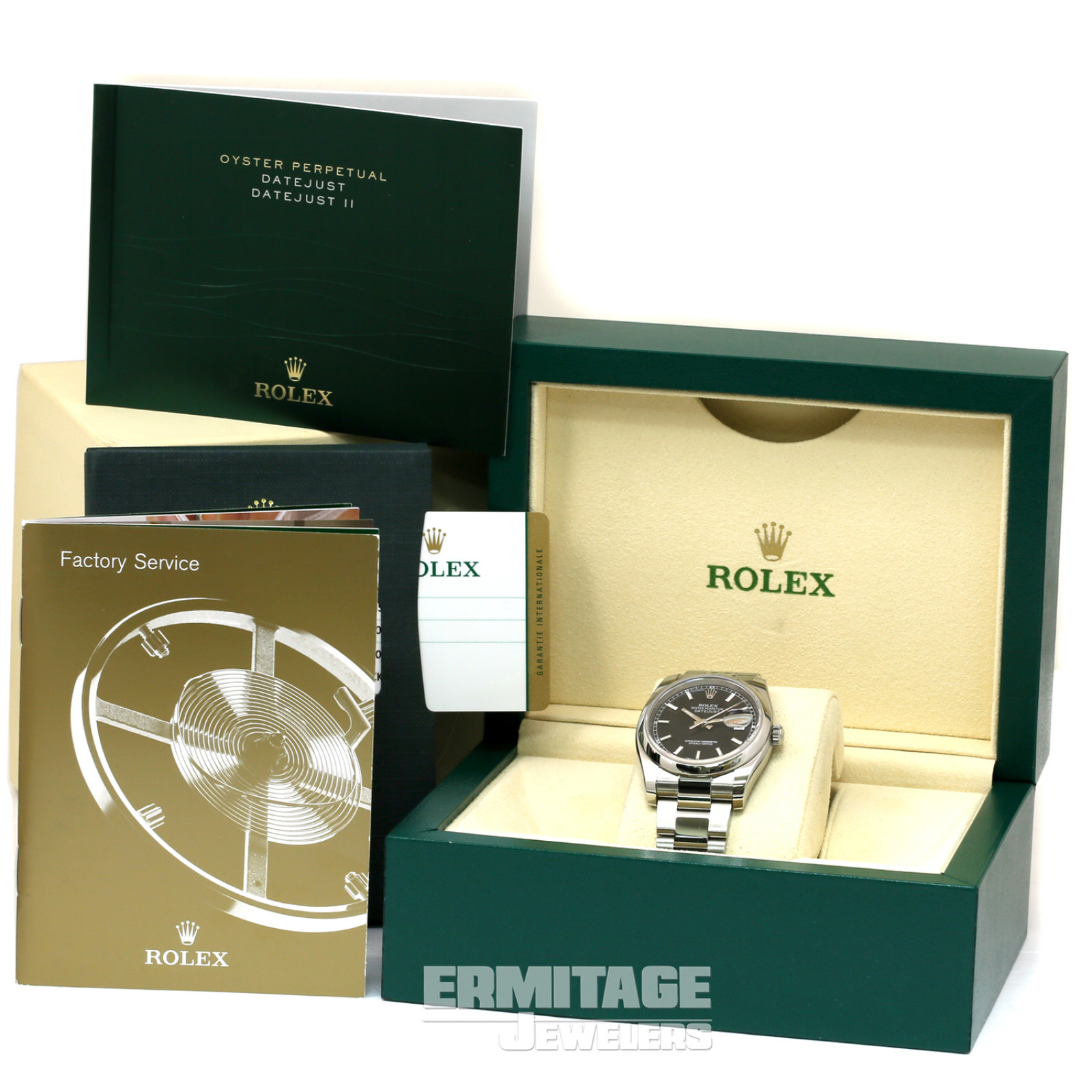 36 mm Rolex Datejust 116200 Steel on Oyster with Black Dial