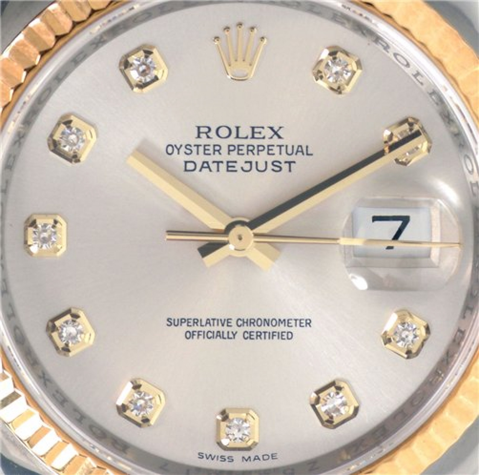 Rolex Datejust 116233 with Diamonds on Silver Dial