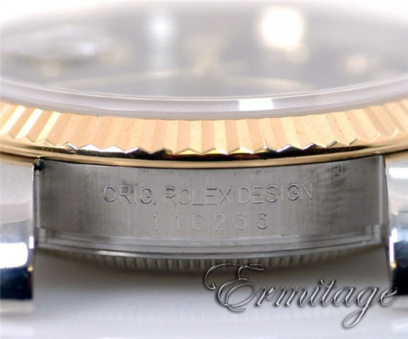 Gold & Steel Diamond Dial Rolex Datejust 116233