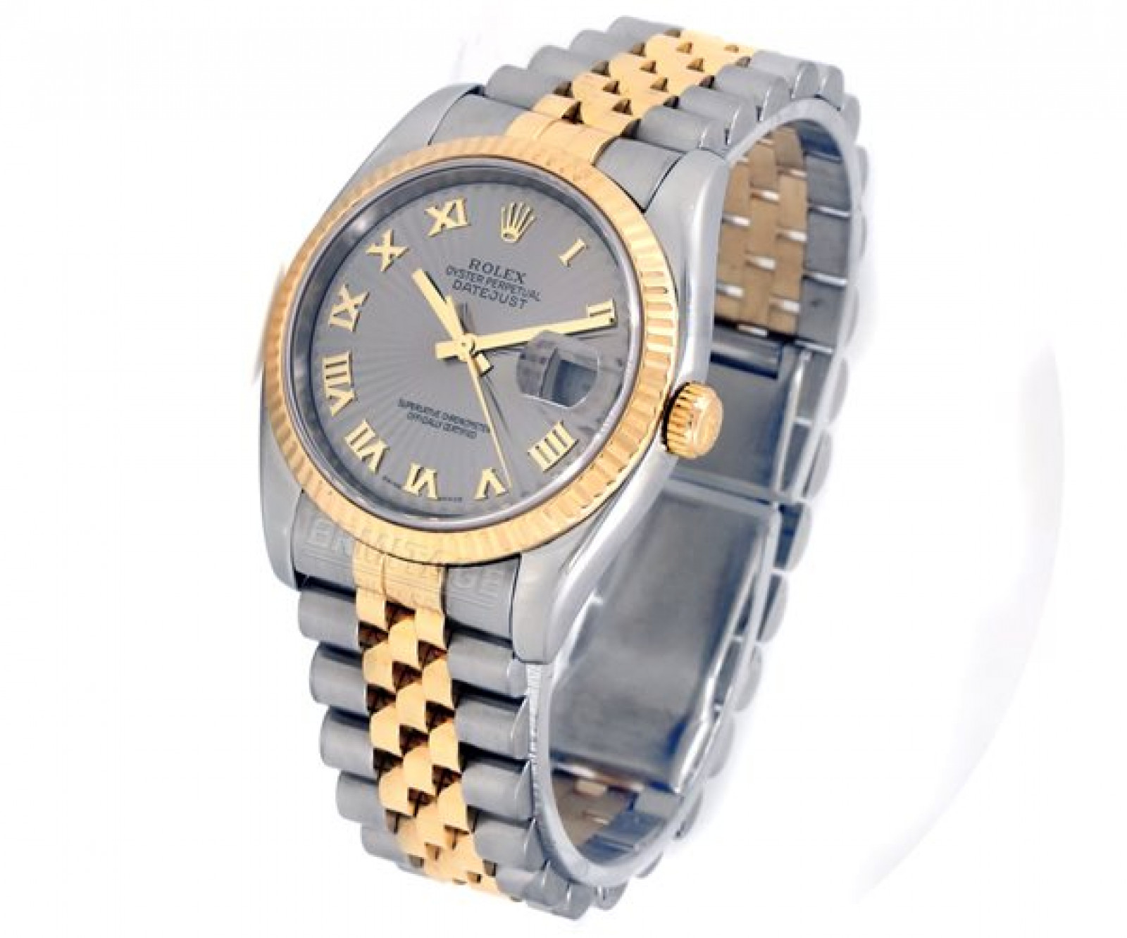 Rolex Datejust 116233 Gold & Steel with Slate Dial & Roman Markers
