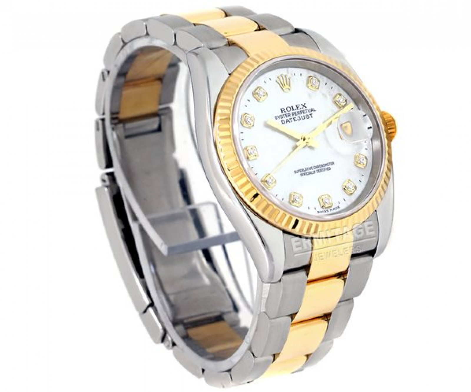 Rolex Datejust 116233 with Diamonds on White Dial