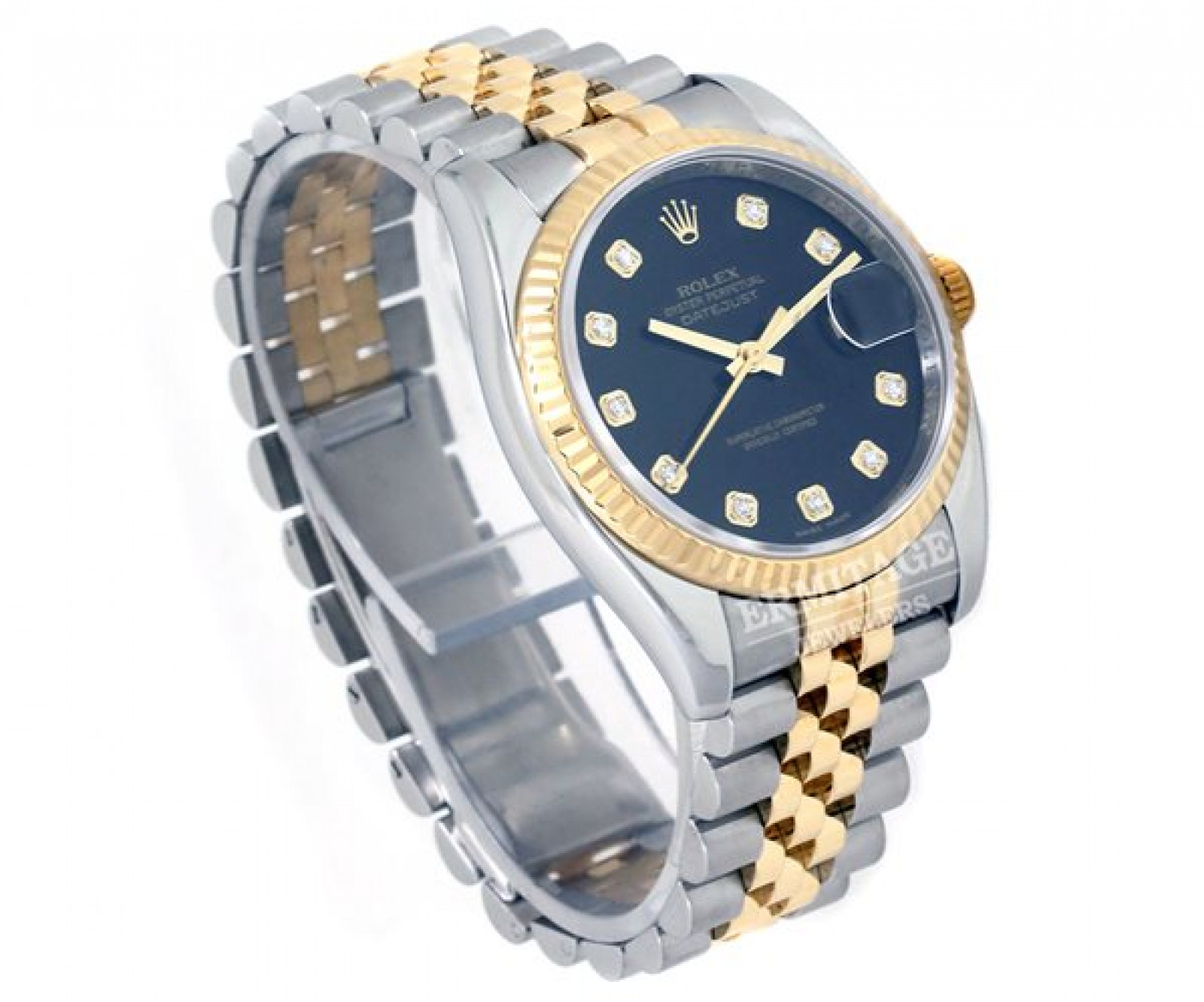Pre-Owned Two Tone Rolex Datejust 116233 with Diamonds
