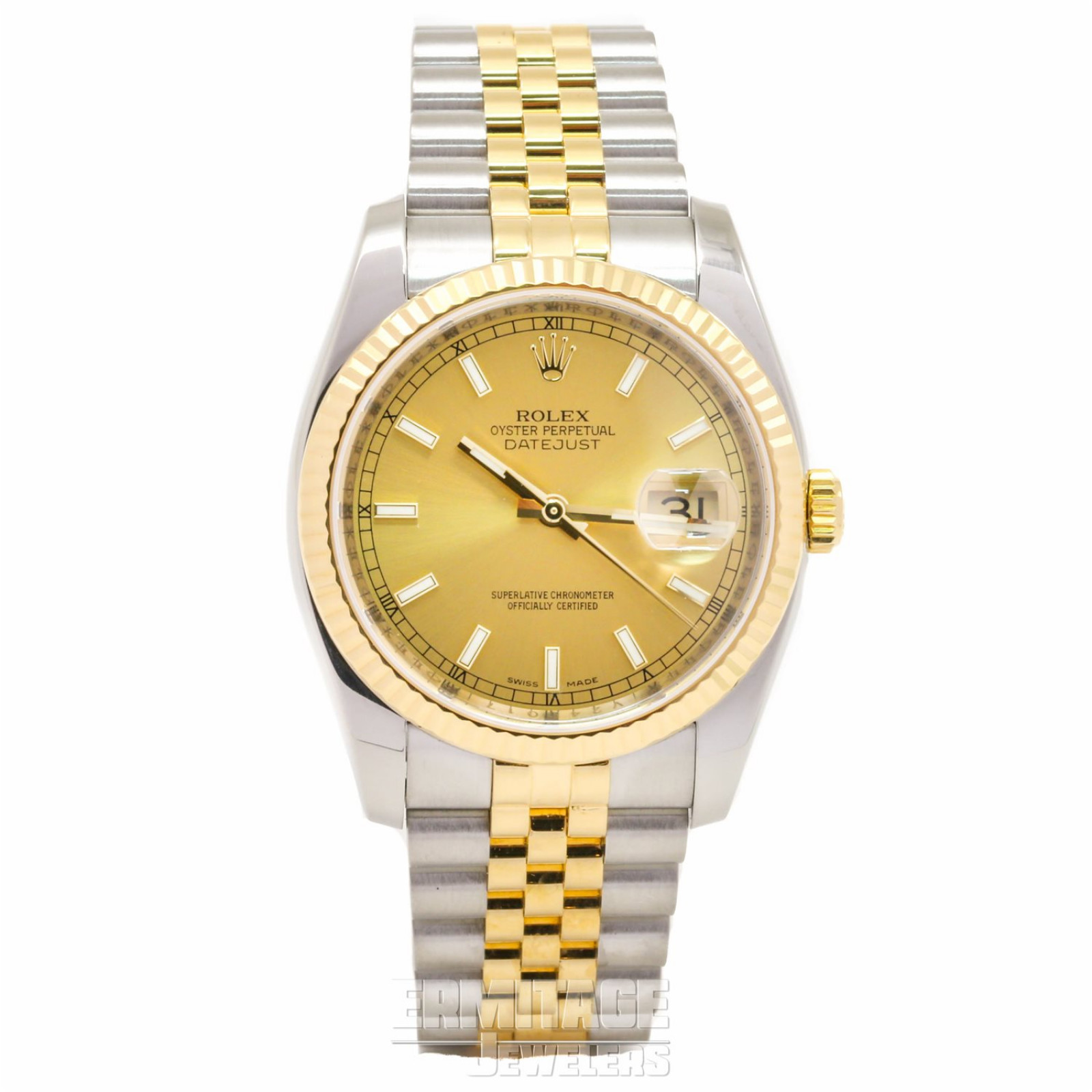 Pre-Owned Rolex Datejust 116233 with Champagne Dial