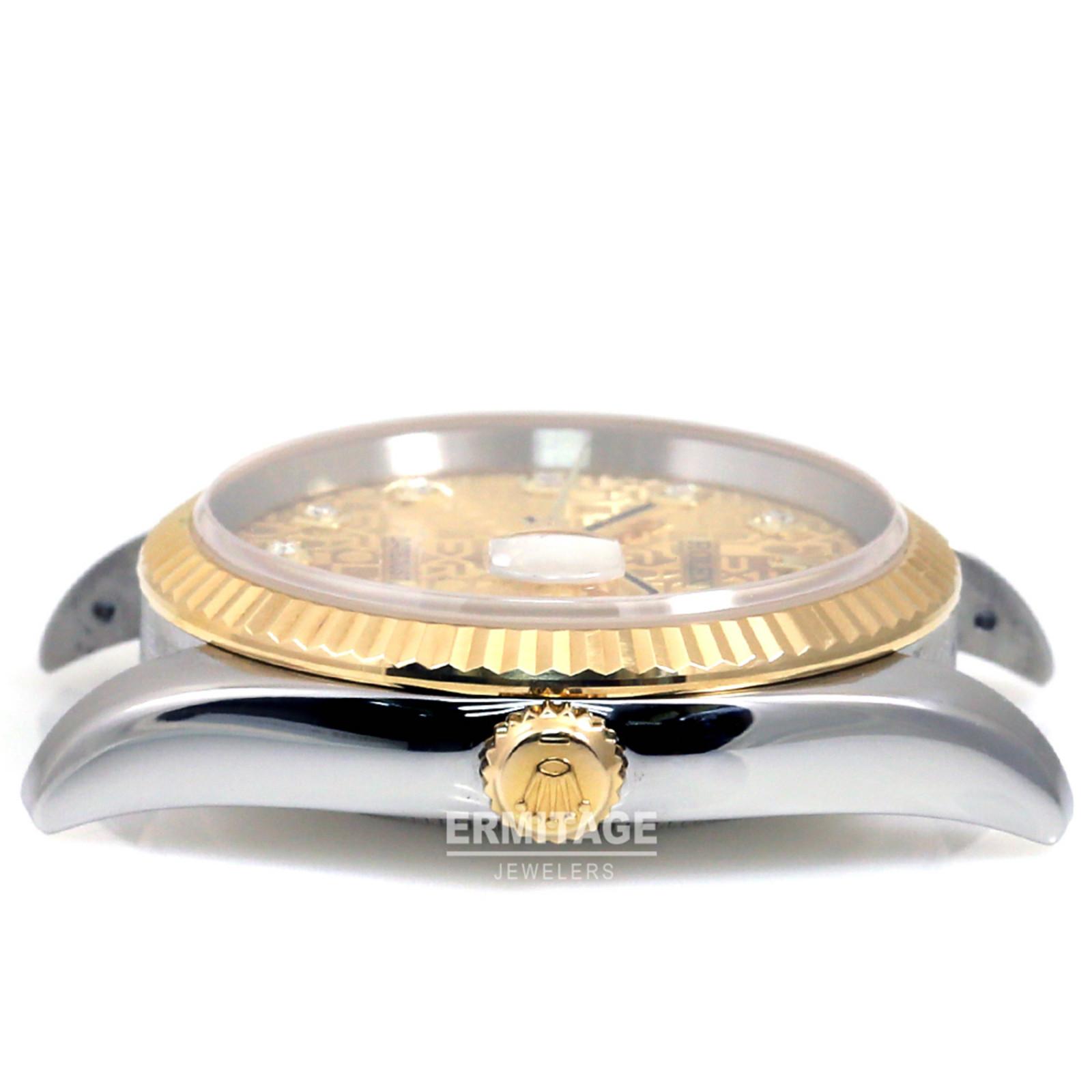 Rolex Datejust 116233 Gold & Steel with Diamonds