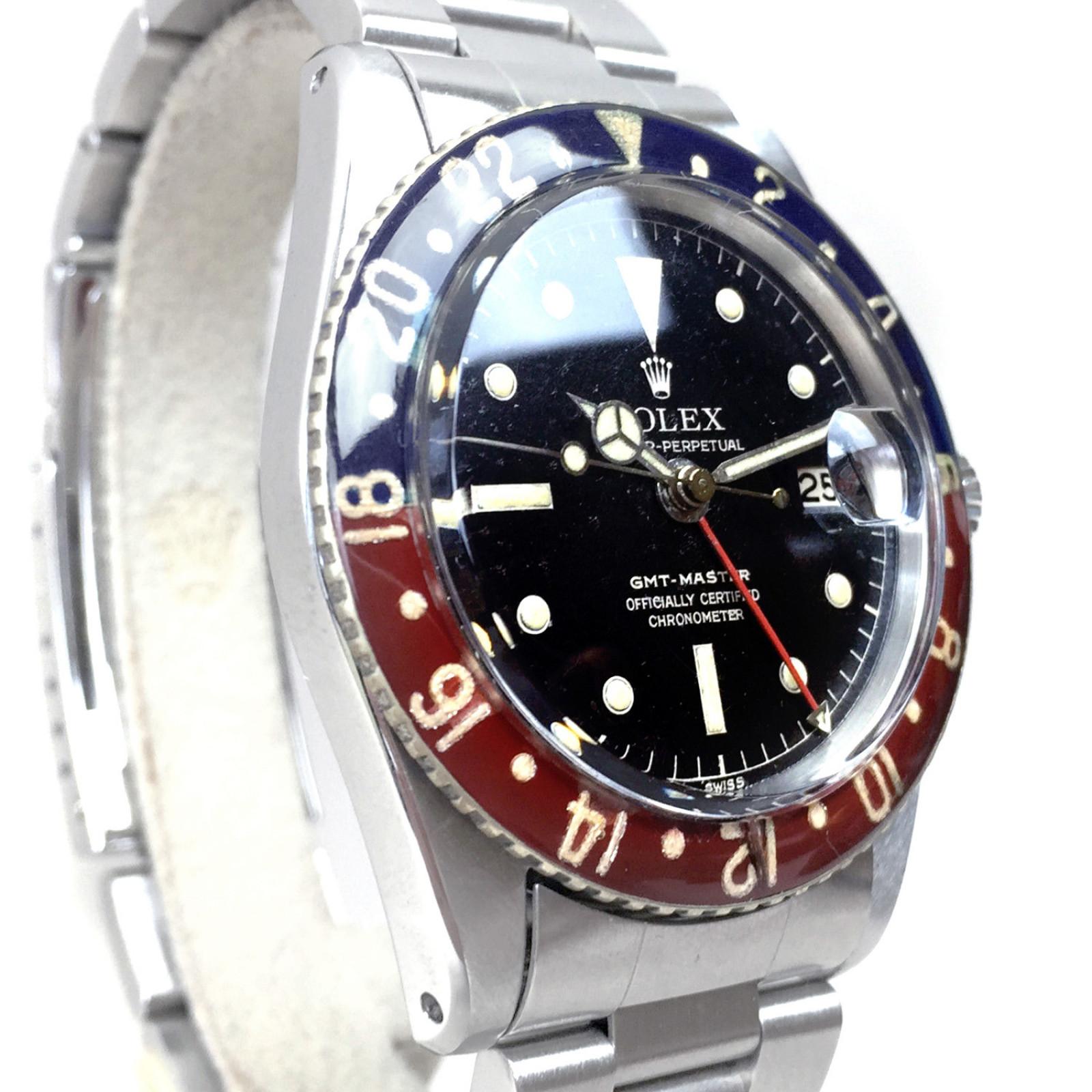 Vintage Rolex 6542 40 mm Steel on Oyster, Black & Red Ceramic, Coke Style Bezel