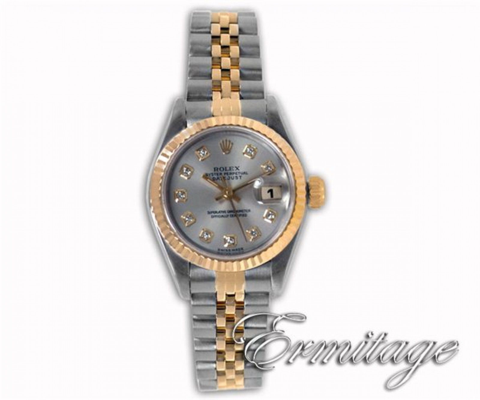 Rolex Datejust 69173 with Diamonds on Silver Dial