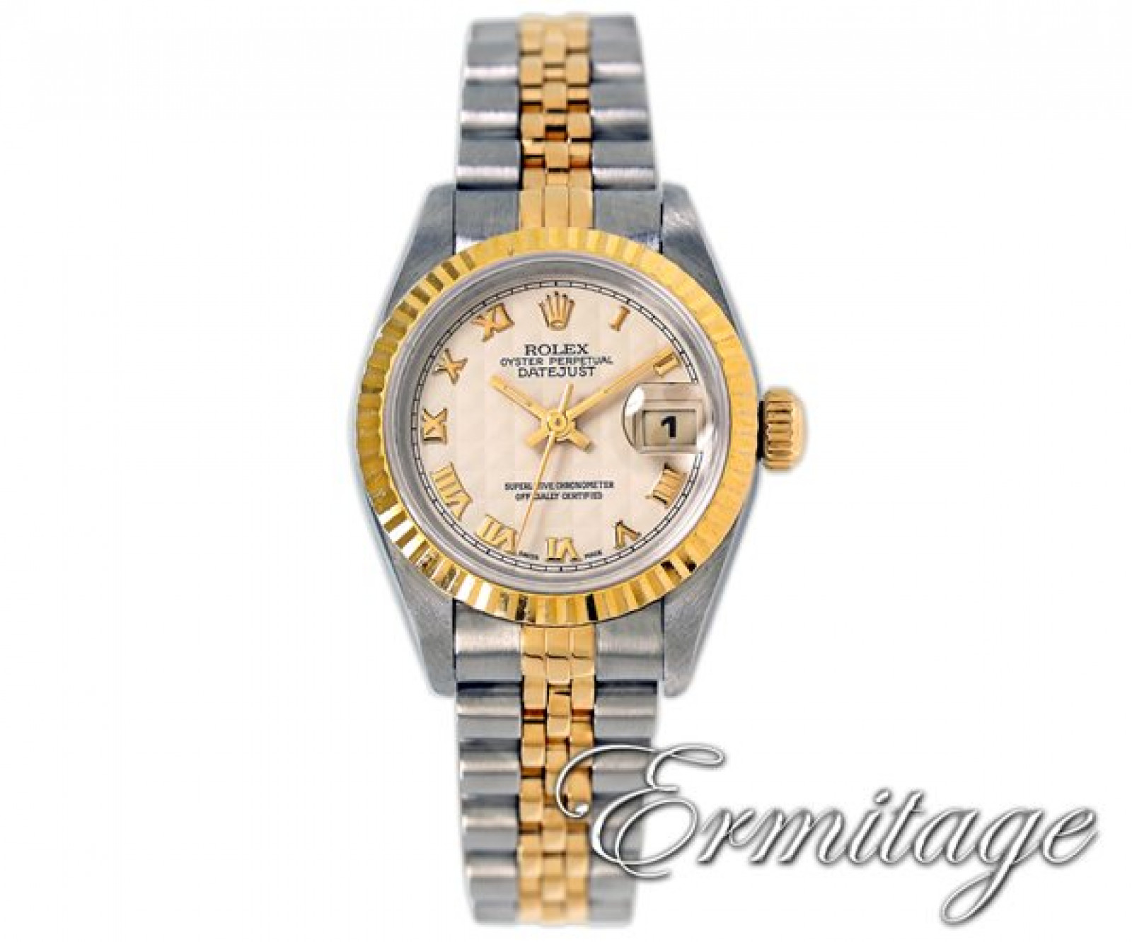 Rolex Datejust 69173 Gold & Steel with White Dial Year 1998
