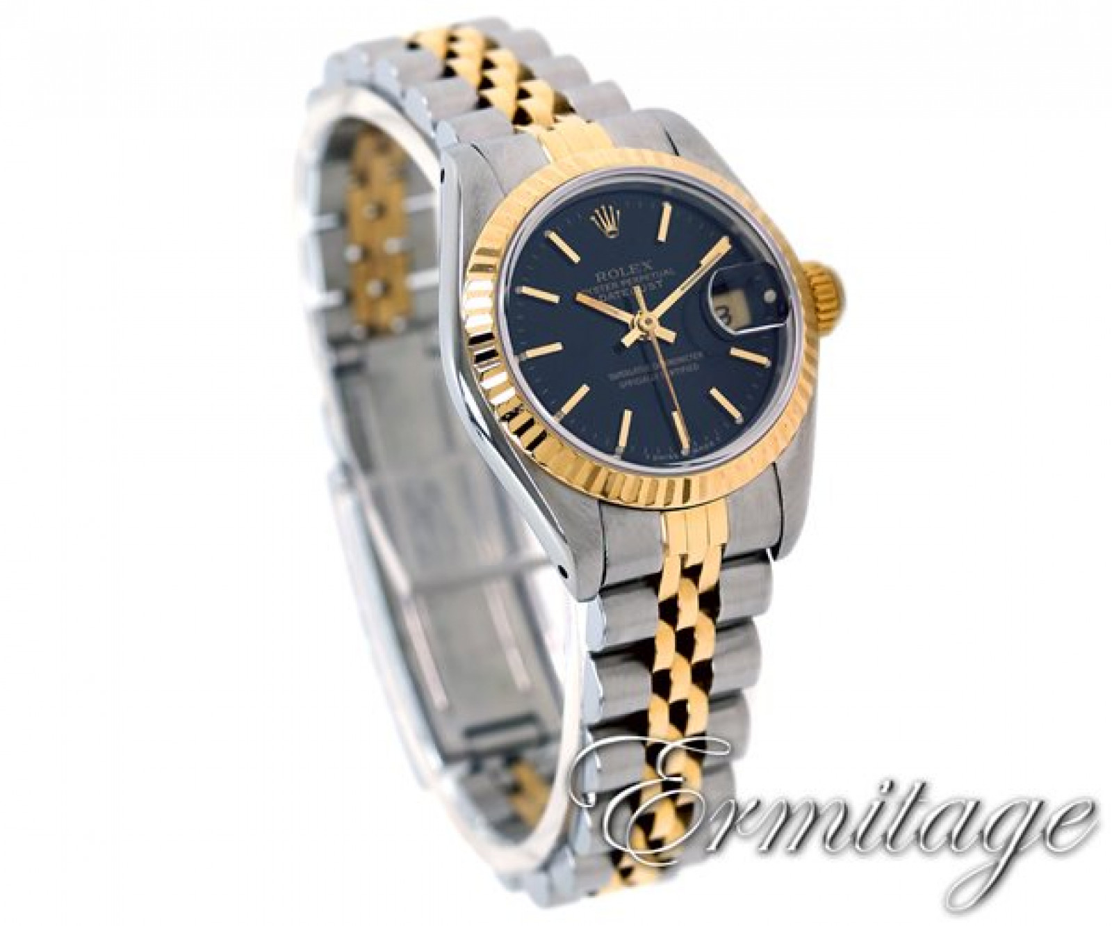 Rolex Datejust 69173 Gold & Steel With Black Dial