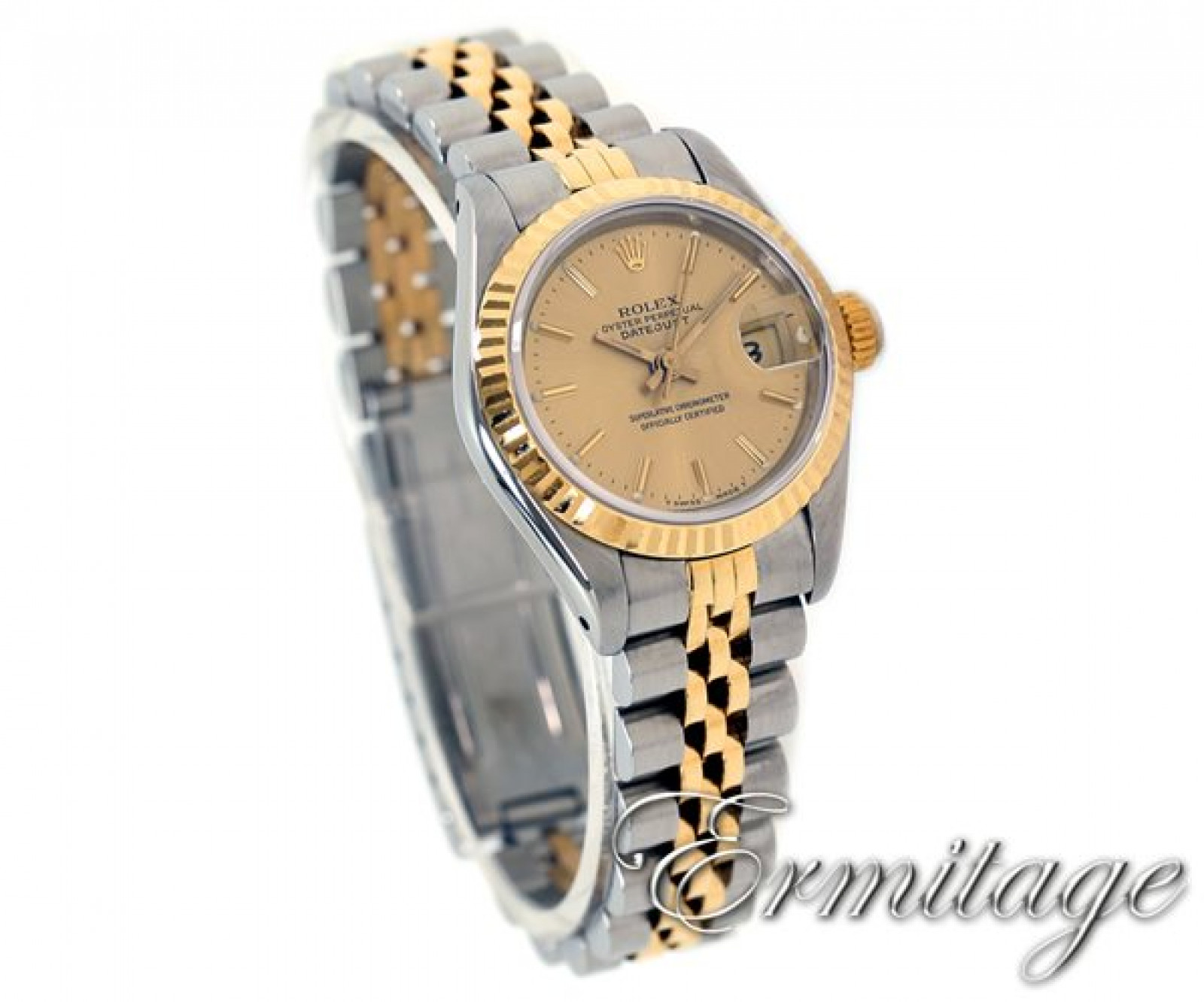Pre-Owned Rolex Datejust 69173 Gold & Steel Champagne