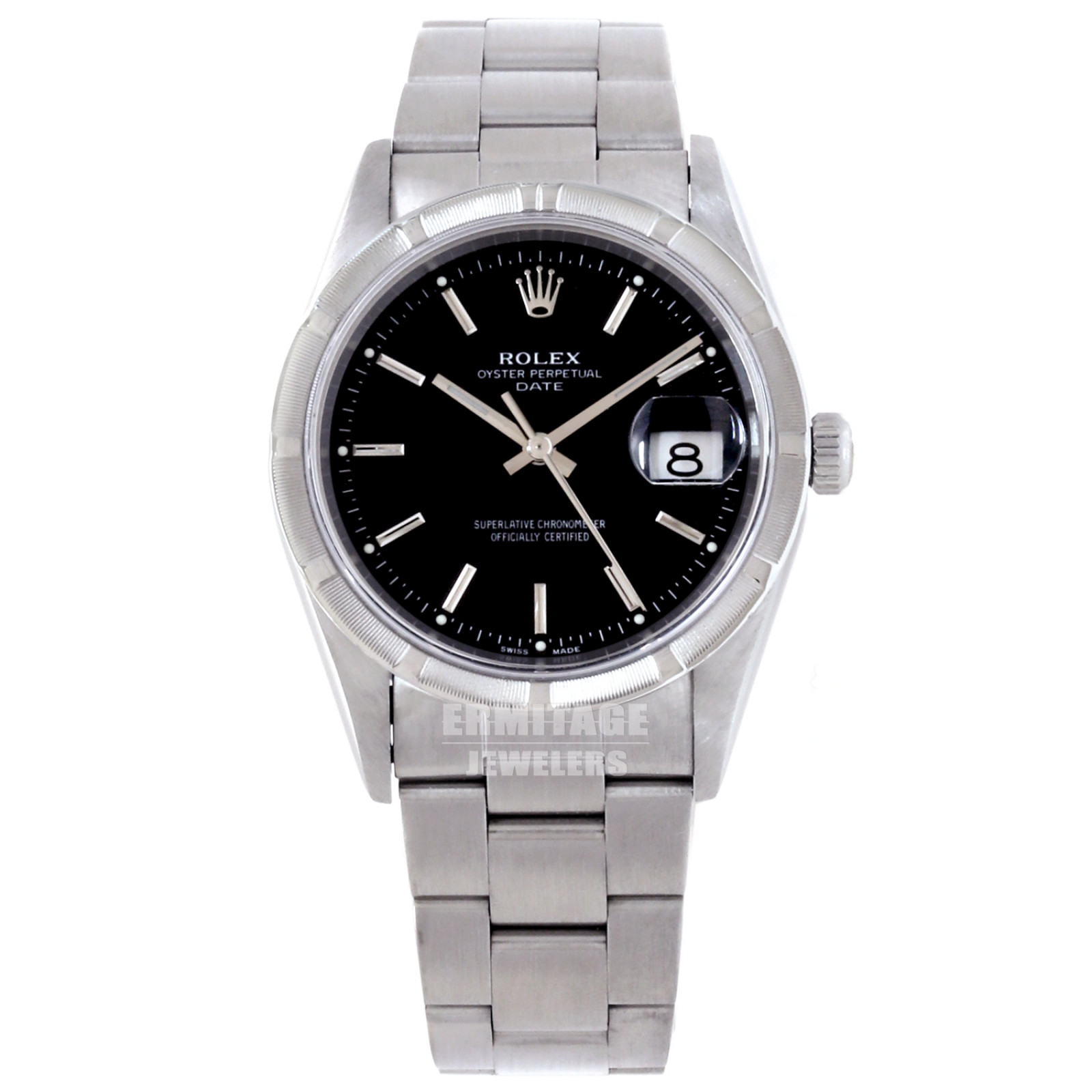 Pre-Owned Rolex Date 15210 with Black Dial