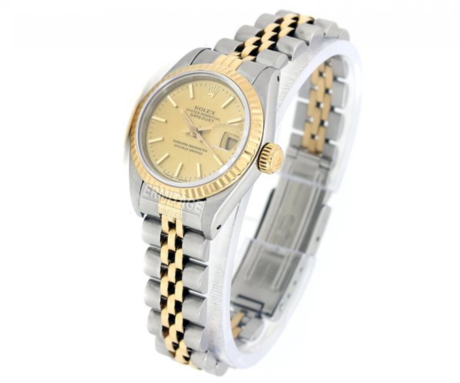 Pre-Owned Gold & Steel Rolex Datejust 69173 Year 1984