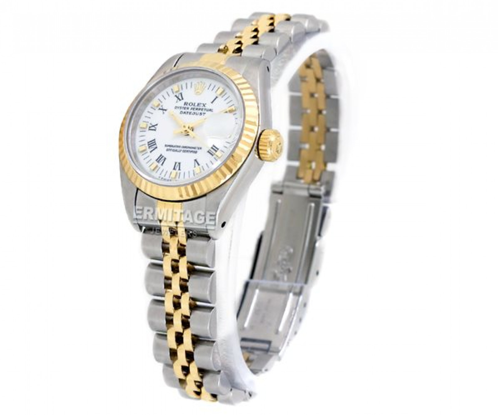 Rolex Datejust 69173 Gold & Steel with White Dial & Roman Markers