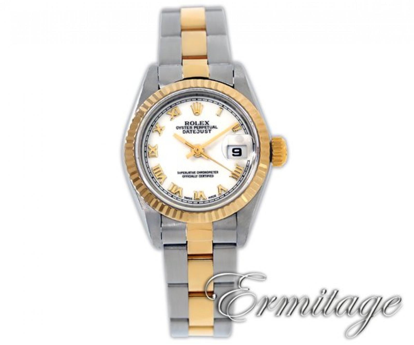 Rolex Datejust 69173 Gold & Steel White