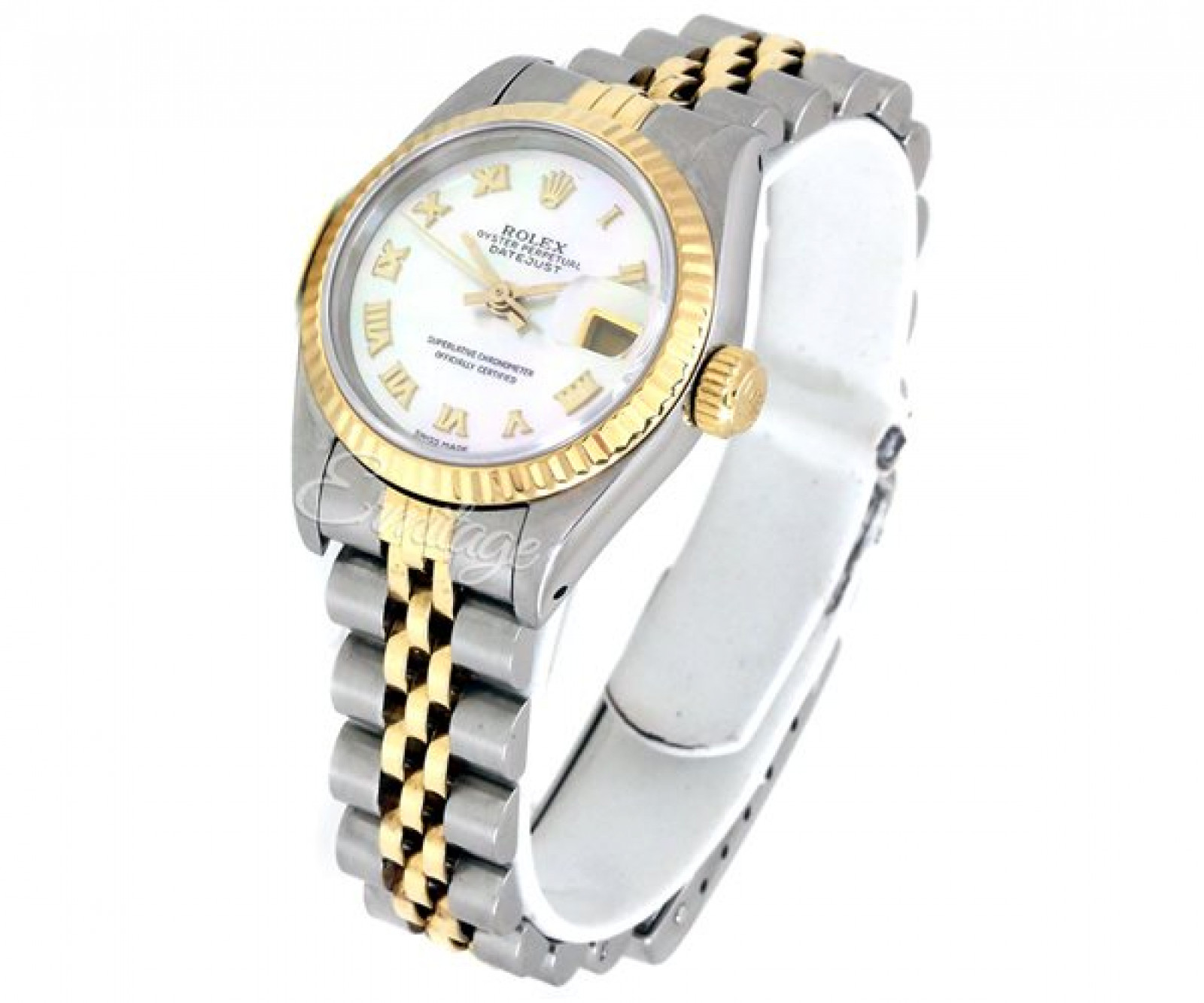 Rolex Datejust 69173 Gold & Steel with Ivory Dial & Roman Markers