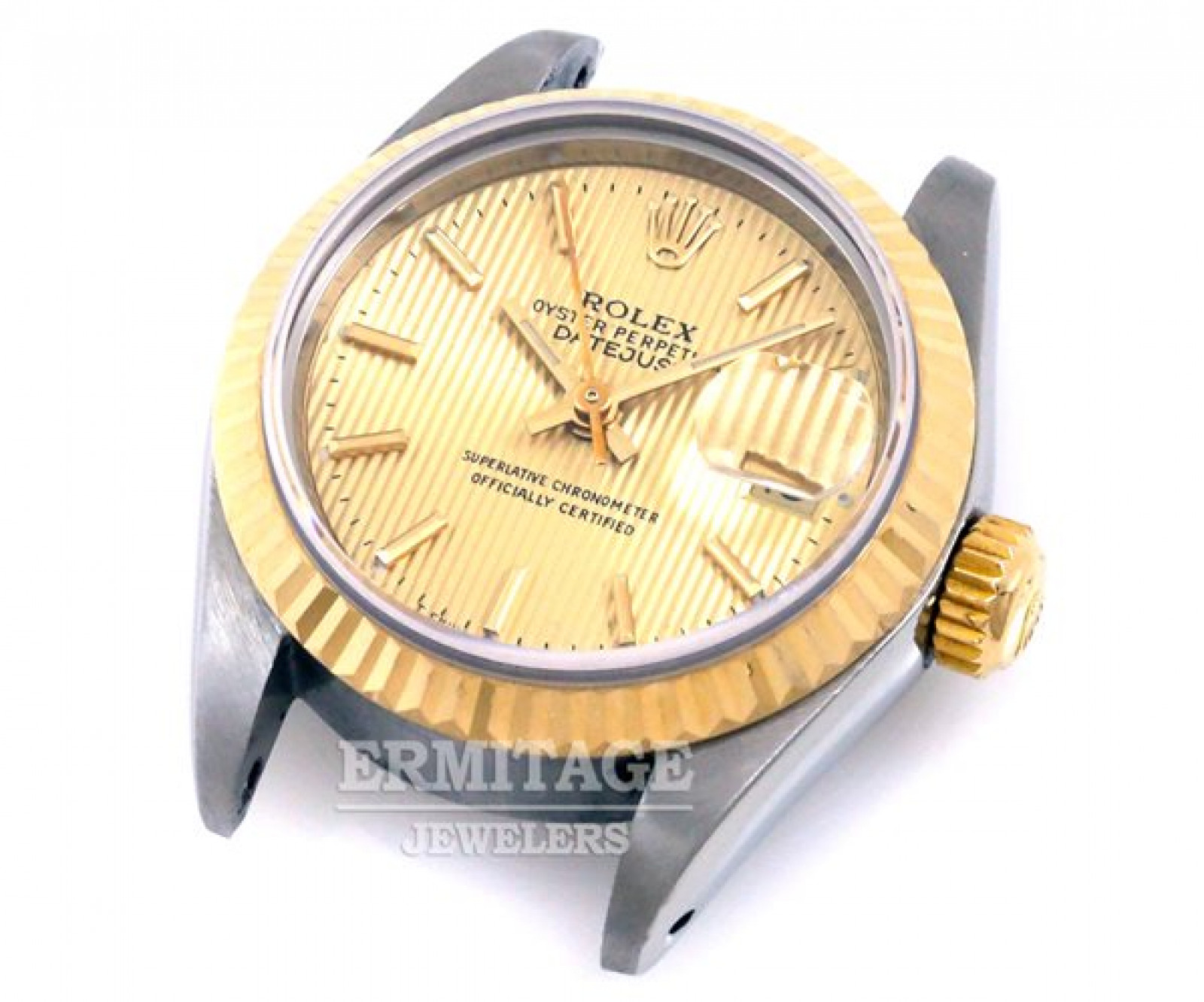 Tapestry Champagne Dial Rolex Datejust 69173