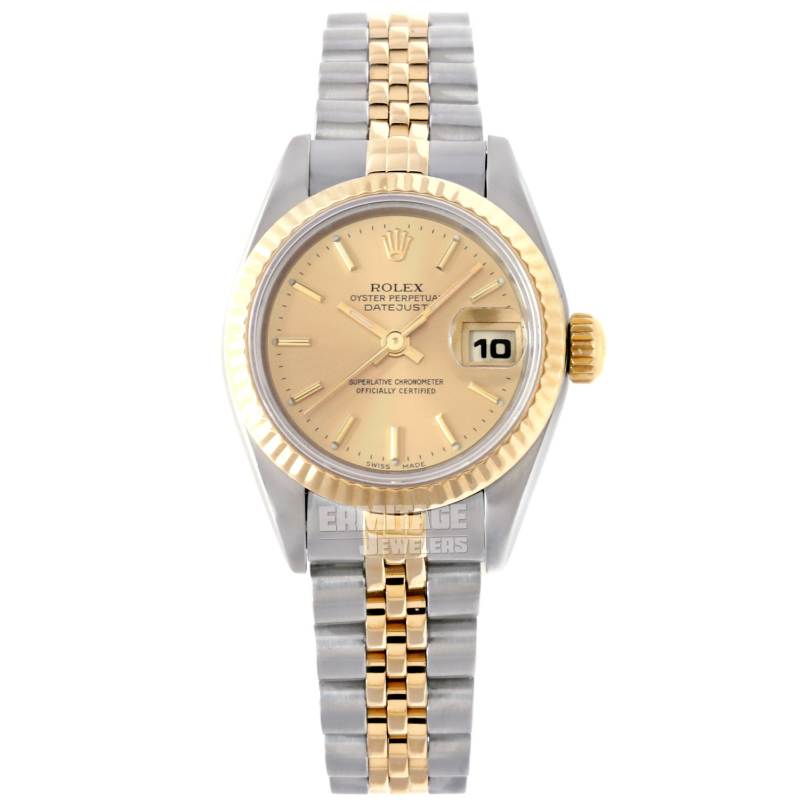 Used Rolex Datejust 69173 with Champagne Dial