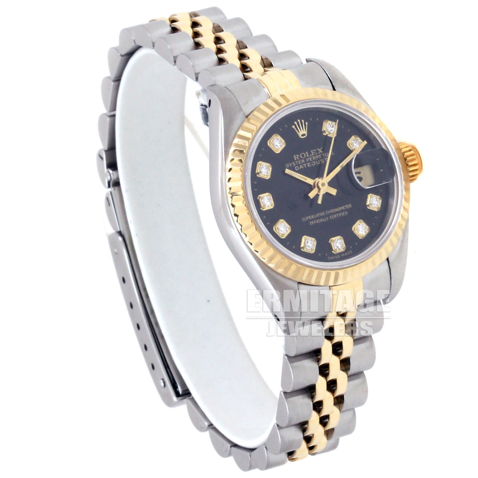 Pre-Owned Rolex Datejust 69173 with Black Dial