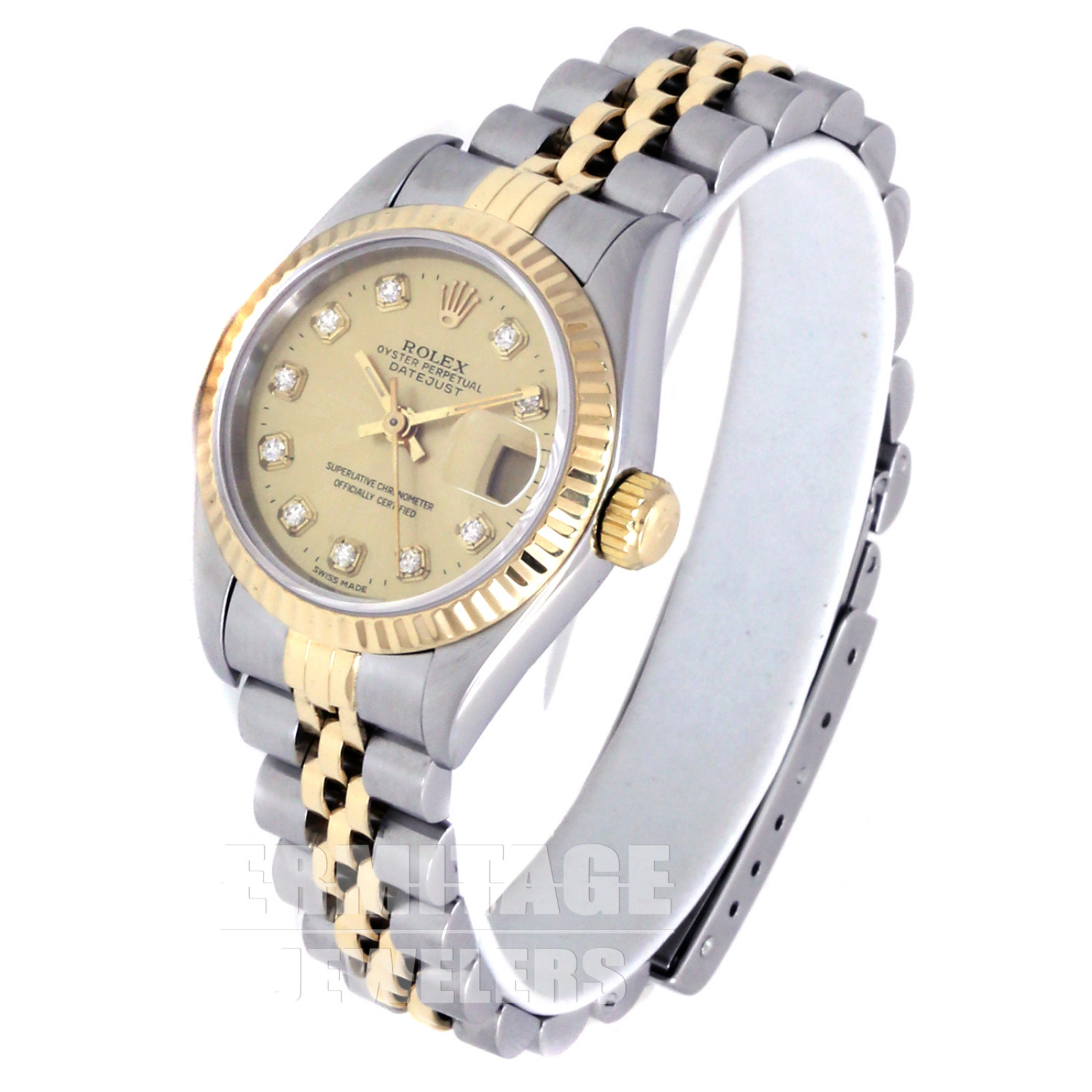 Ladies Rolex Datejust 69173 with Champagne Dial