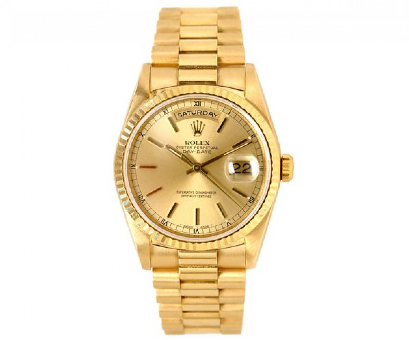 Rolex Day-Date 18238 Gold Champagne 1994