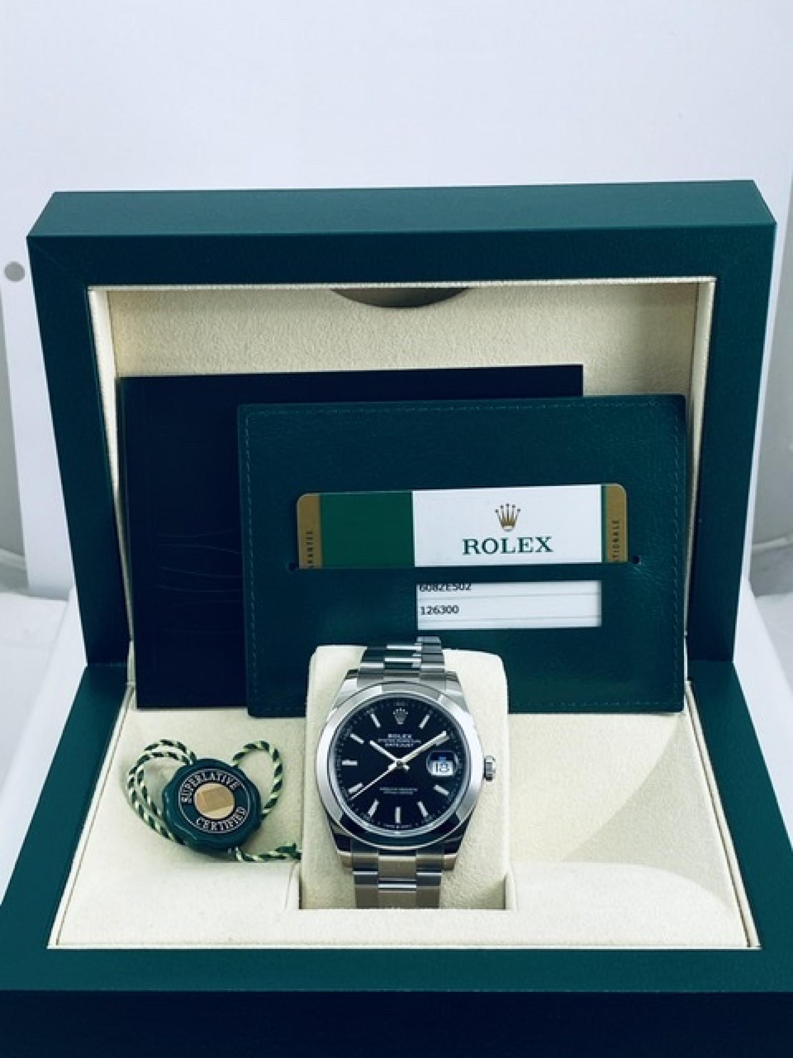 2019 Black Rolex Datejust Ref. 126300