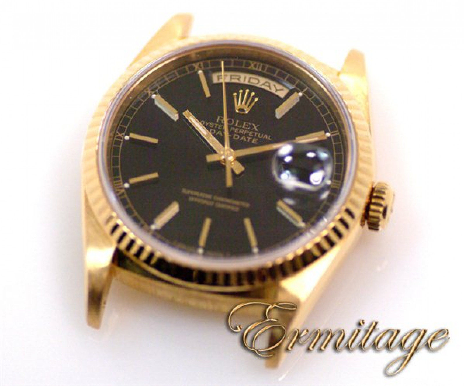 Rolex Day-Date 18238 Gold with Black Dial Year 1997