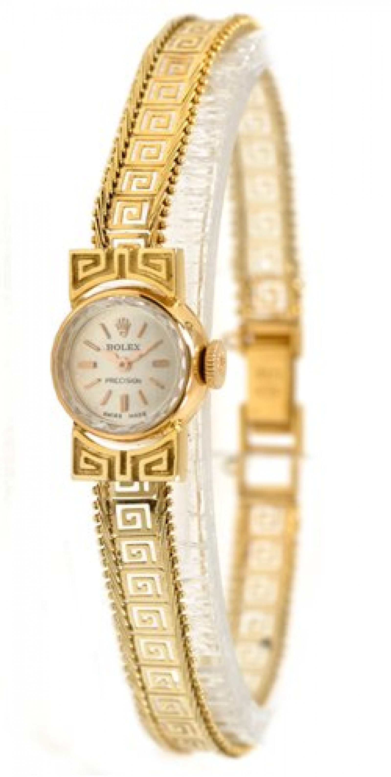 Vintage Rolex Precision 2113 Gold with Silver Dial