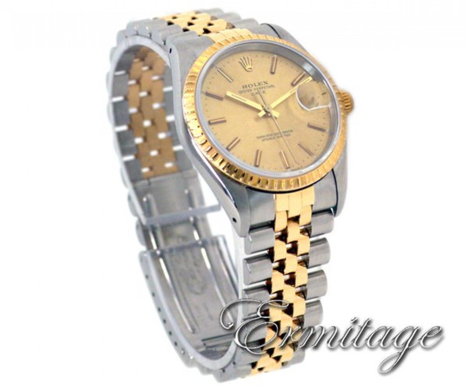 Rolex Date 15233 Gold & Steel Champagne 1990