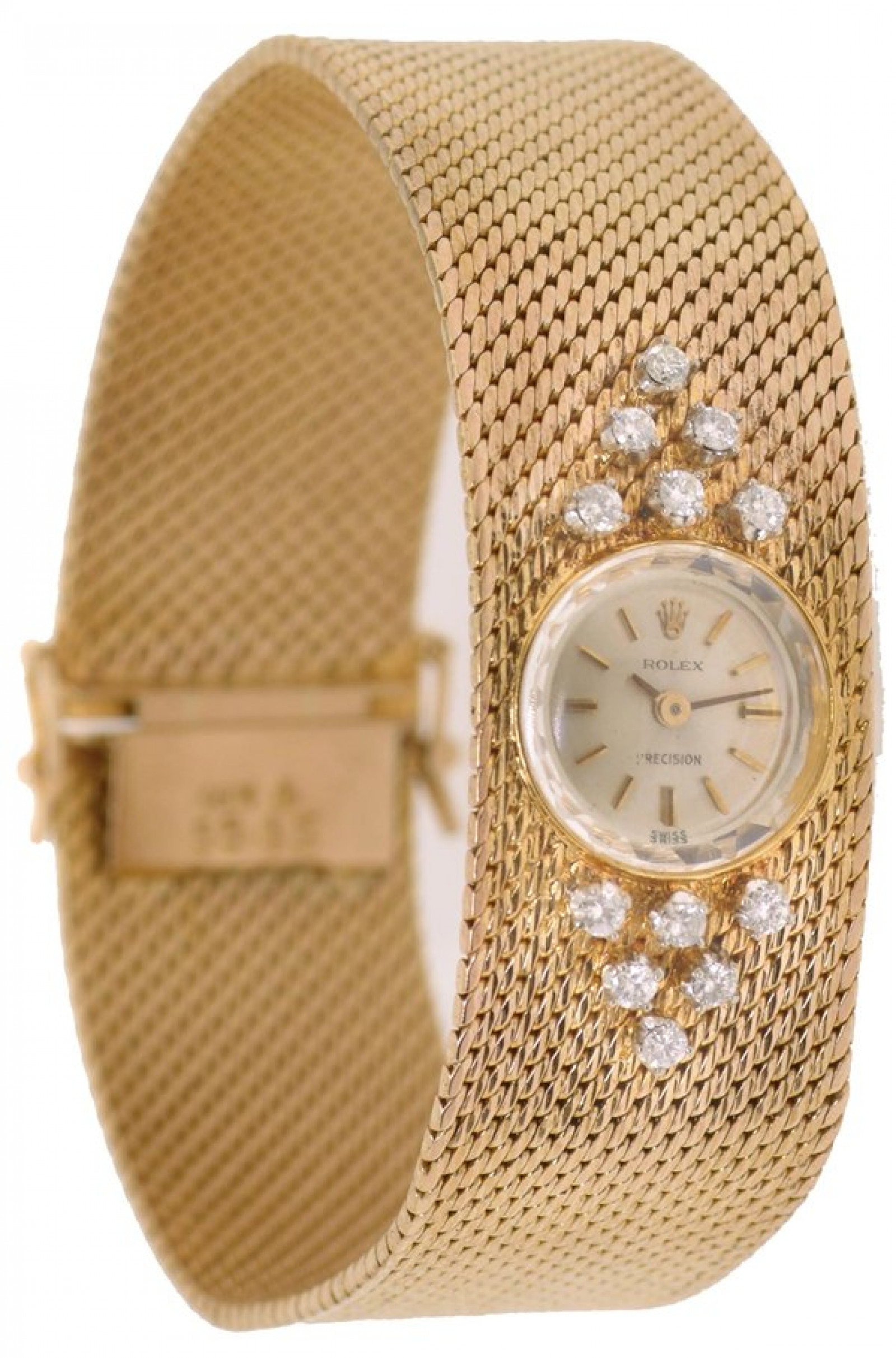 Vintage Rolex Precision 2604 Gold with Silver Dial