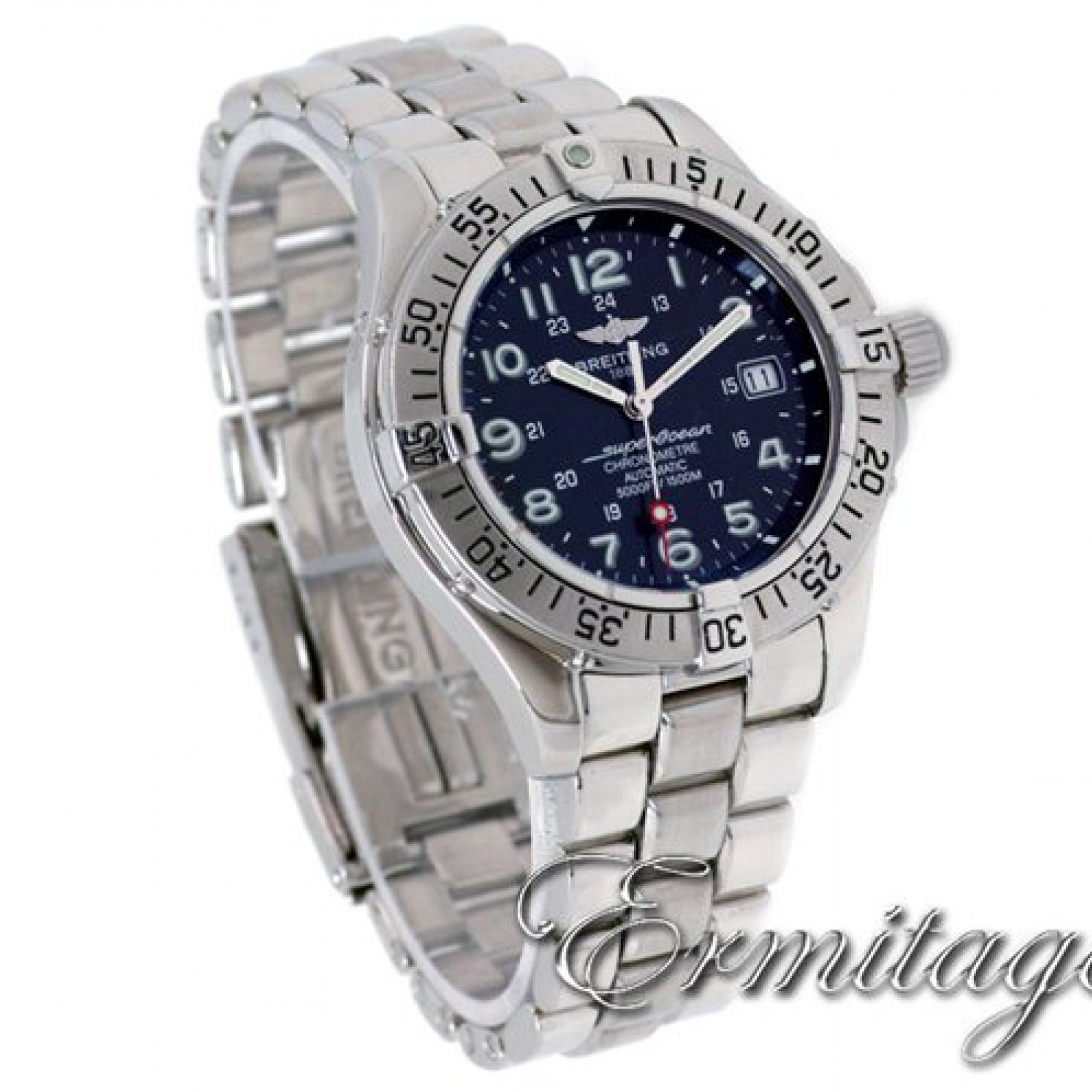 Pre-Owned Breitling SuperOcean (2003) A17360 Steel