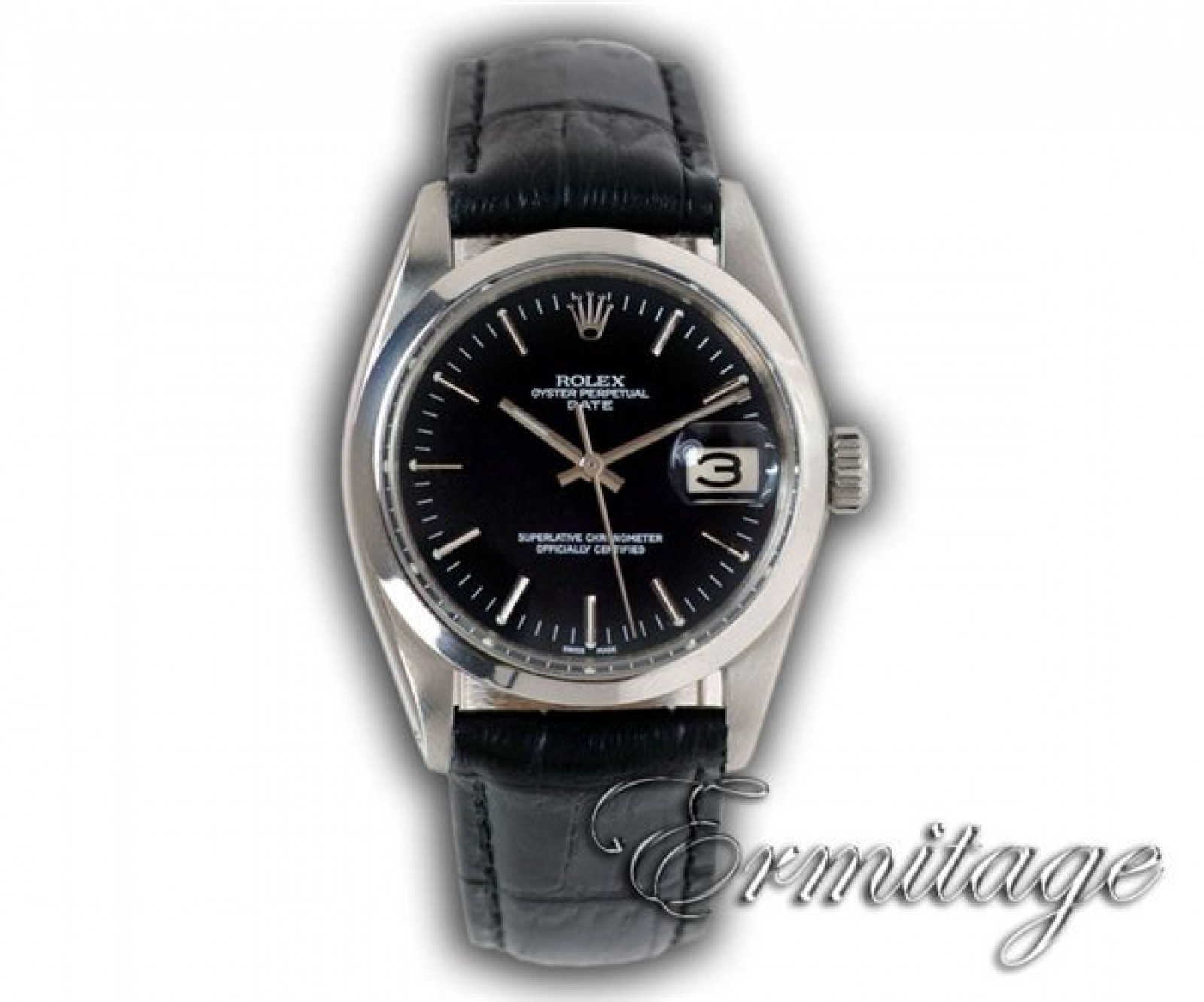 Vintage Rolex Date 1500 Steel Year 1959 with Black Dial