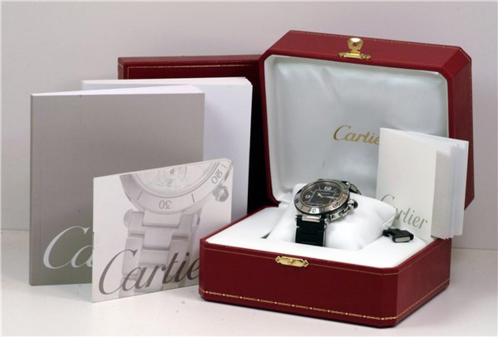Black Diamond Dial Cartier Pasha W31077U2