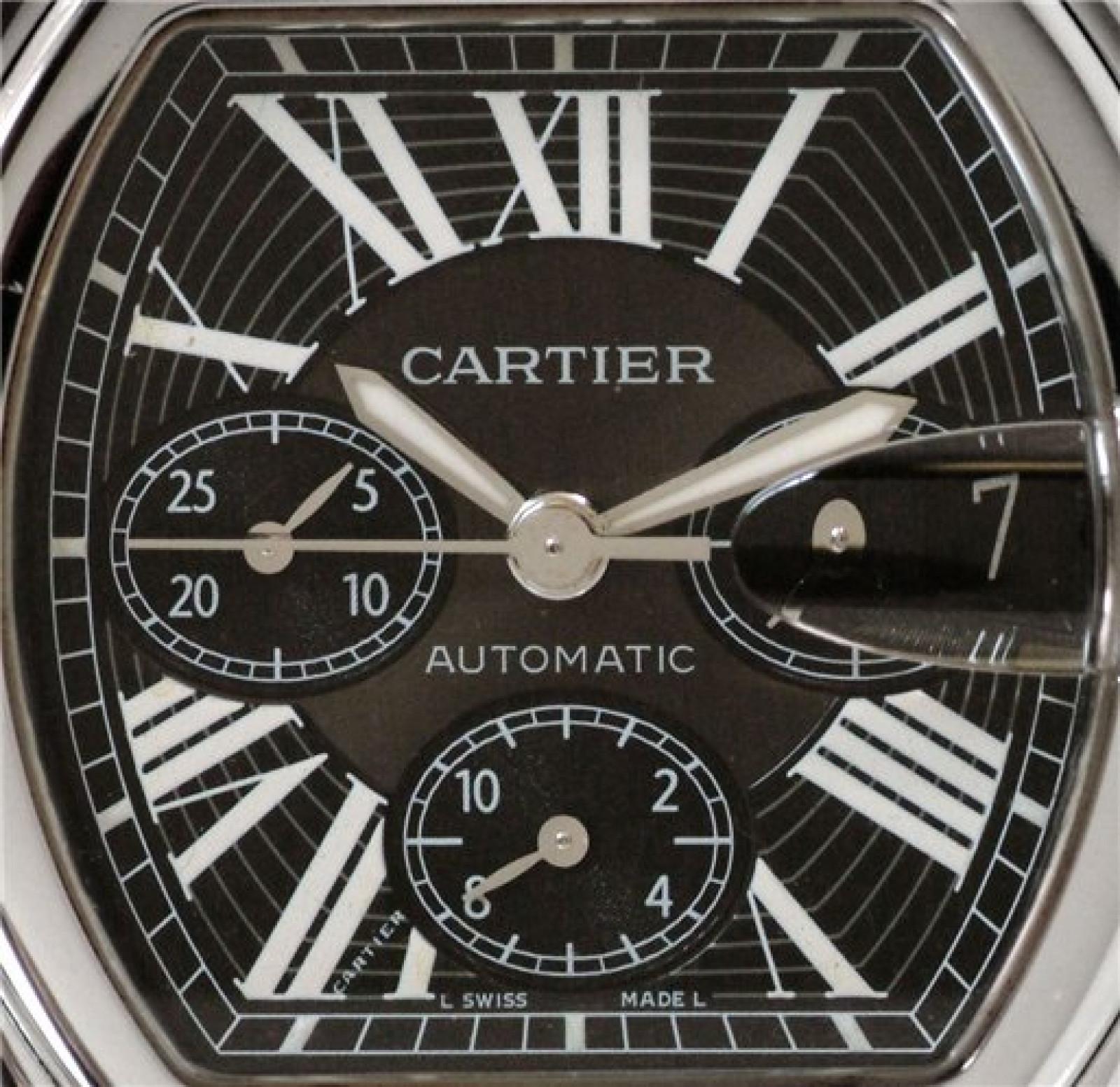 Pre-Owned Cartier Roadster W62019X6 Steel