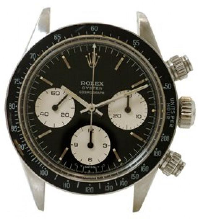 Rolex 6263 Steel No Bracelet on, Black Bezel Steel with Silver Index