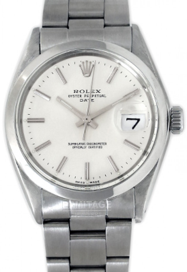 Rolex 1500 Steel on Oyster, Smooth Bezel Steel with Silver Index