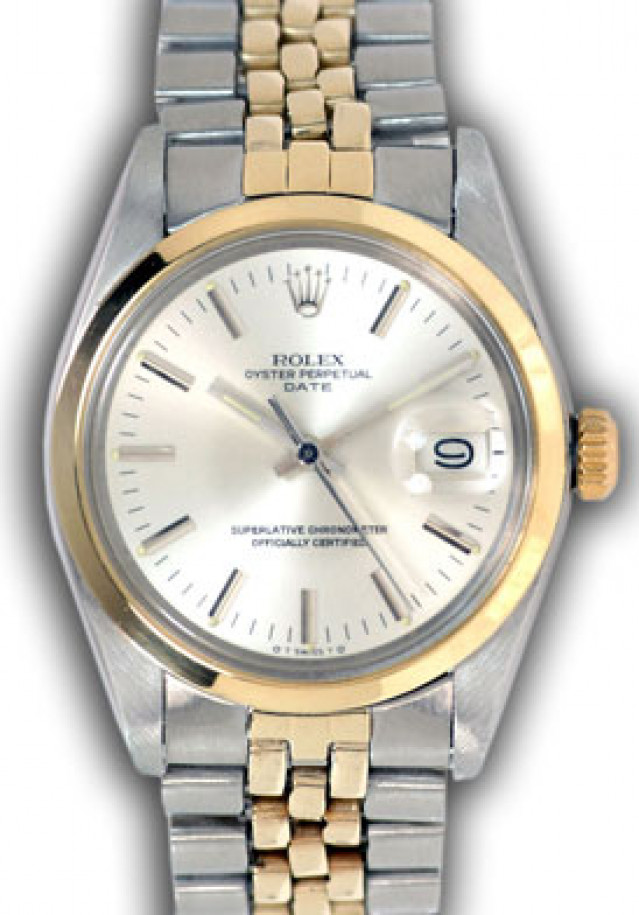 Rolex 1501 Yellow Gold & Steel on Jubilee, Smooth Bezel Steel with Silver Index