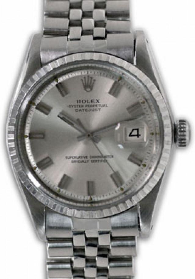 Rolex 1603 Steel on Jubilee, Fluted Bezel Steel with Silver Index