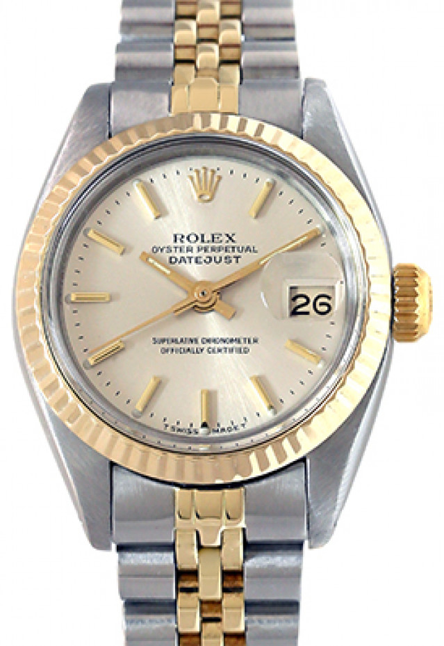Rolex 6917 Yellow Gold & Steel on Jubilee, Fluted Bezel Steel with Gold Index