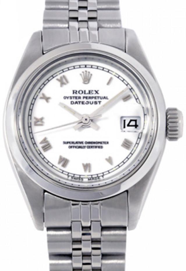 Rolex 6917 Steel on Jubilee, Smooth Bezel White with Silver Roman