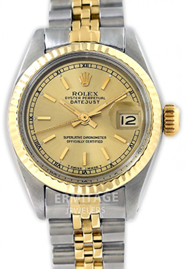 Rolex 6917 Yellow Gold & Steel on Jubilee, Fluted Bezel Champagne with Gold Index