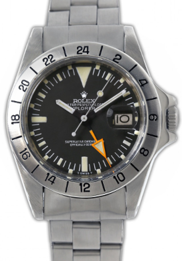 Rolex 1655 Steel on Riveted, 24 Hour Display Bezel Black Mark II with Luminous Index