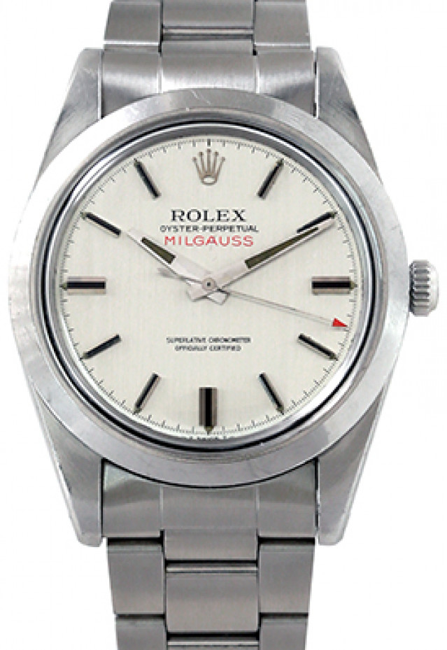 Rolex 1019 Steel on Oyster, Smooth Bezel Steel with Luminous Silver Index