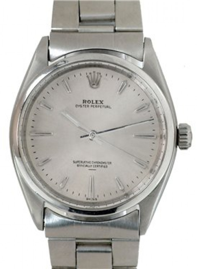 Rolex 1002 Steel on Oyster Steel with Silver Index