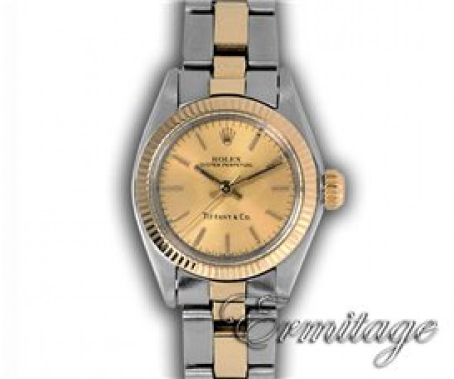 Rolex 6719 Yellow Gold & Steel on Oyster, Fluted Bezel Champagne with Gold Index