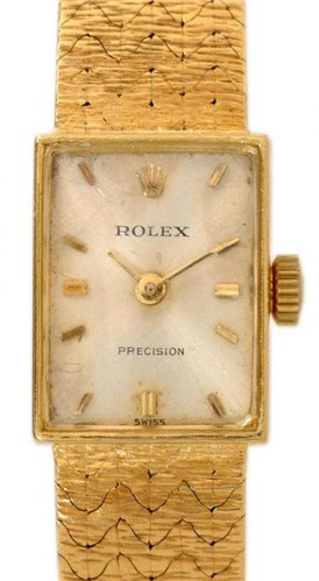Rolex 173J Yellow Gold on Mesh Steel with Gold Index