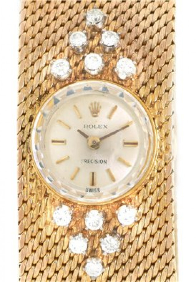 Rolex 2604 Yellow Gold on Mesh Steel with Gold Index