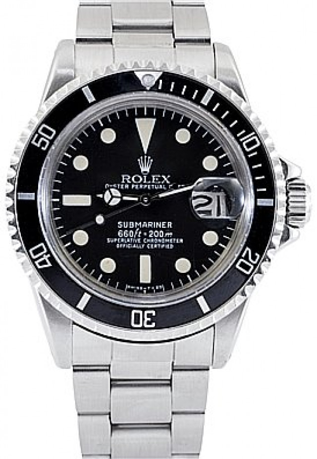 Rolex 1680 Steel on Oyster Black