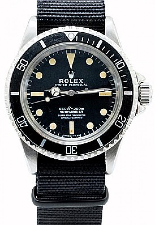 Rolex 5512 Steel on Strap Black