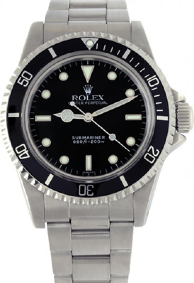 Rolex 5513 Steel on Oyster Black Luminova with Luminous Dots & Index