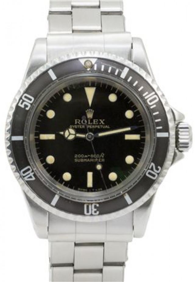 Rolex 5513 Steel on Riveted, Black Bezel Black Gilt with Luminous Dots & Index